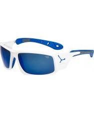 Cebe Ice 8000 блестящий белый синий солнцезащитные очки