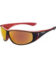 Bolle Highwood блестящий черный красный поляризованный ТНС огонь солнцезащитные очки