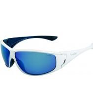 Bolle Highwood блестящий белый синий поляризованные очки синие морские