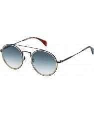Tommy Hilfiger Th 1455-S bqz 08 матовых синих солнцезащитных очков