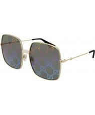 Gucci Женские солнцезащитные очки gg0414s 003 60