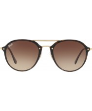 RayBan Rb4292n 62 71013 плавные солнечные очки с двойным мостом