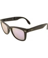 RayBan Rb4105 50 складной путник матовый черный 601s4k сирень зеркальные солнечные очки
