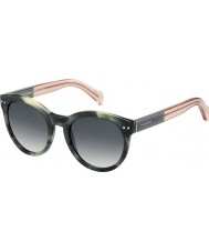 Tommy Hilfiger Дамы-й 1291-нс MBr 9х зеленый Havana розовые очки