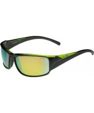 Bolle Keelback блестящие черные зеленые поляризованные коричневые очки изумруд