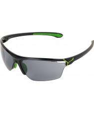 Cebe Cinetik большие блестящие черные зеленые очки