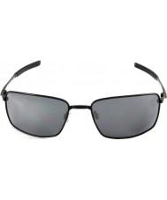 Oakley Oo4075-01 квадратная проволока полированные черные - черные очки иридия