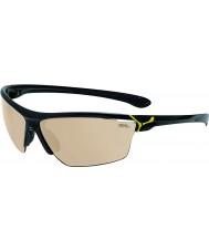 Cebe Cinetik большие блестящие черные желтые очки