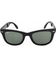 RayBan Rb4105 50 складных Wayfarer черный 601-58 поляризованных солнцезащитных очков
