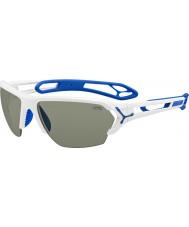 Cebe S-трек большие блестящие белые очки