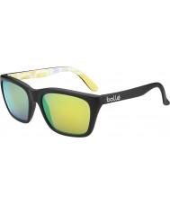 Bolle 527 ретро-коллекция матовая чёрная графика поляризованный коричневый изумрудные очки