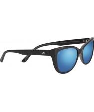 Serengeti Sophia блестящий черный поляризованный 555nm синий зеркало солнцезащитные очки