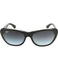 RayBan Rb4227 55 Highstreet верх черный матовый на прозрачный 60528g градиентных солнцезащитных очков