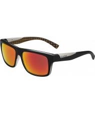 Bolle Клинт матовый черный оранжевый поляризованный ТНС огонь солнцезащитные очки