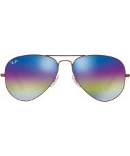 RayBan RB3025 58 авиатора большой металлический темно-бронзовый 9019c2 солнцезащитные очки
