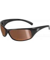 Bolle Отдача блестящие черные поляризованные внутренние золотые солнечные очки