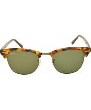 RayBan Rb3016 51 Clubmaster пятнистый черный Havana 1157 солнцезащитные очки