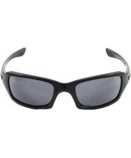 Oakley Oo9238-04 пятерок в квадрате полированный черный - серые очки