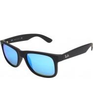 RayBan Rb4165 justin черно-синее зеркало