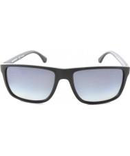 Emporio Armani Ea4033 56 современные черные серые резиновые 5229t3 поляризованных солнцезащитных очков