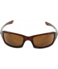 Oakley Oo9238-07 пятерок в квадрате полированную rootbeer - темные бронзовые солнечные очки