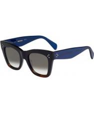 Celine Дамы кл 41090-S QLT Z3 черный Havana голубые очки