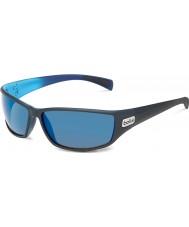 Bolle Python матовый черный синий поляризованные GB-10 солнцезащитных очков