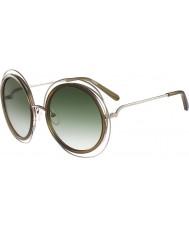 Chloe Дамы ce120s цвета хаки очки Карлина золота