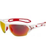 Cebe S-трек большой белый матовый красный солнцезащитные очки