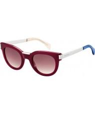 Tommy Hilfiger Дамы-й 1379-S QEI хк бордовыми палладия солнцезащитные очки