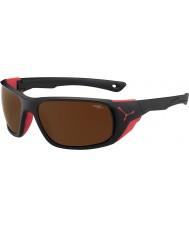 Cebe Jorasses большие матовый черный красный 2000 коричневый флэш зеркальные солнечные очки