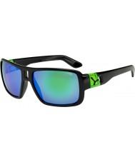 Cebe Lam блестящие черные зеленые очки