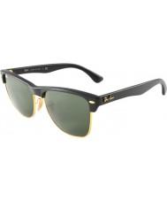 RayBan Rb4175 57 Clubmaster негабаритные демисезонные блестящие черно-золотые очки 877
