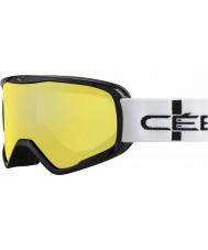 Cebe CBG50 Striker л оранжевый клетчатый - оранжевые вспышки зеркало лыжные очки