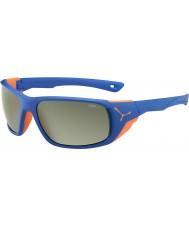 Cebe Jorasses большой матовый синий оранжевый variochrom пик вспышки зеркальные солнечные очки