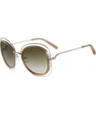 Chloe Дамский ce123s Carlina блестящие золотые солнечные очки