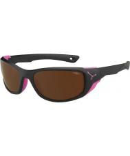 Cebe Jorasses среда матовый черный розовый 2000 коричневый флэш-зеркальные солнечные очки