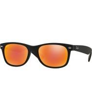 RayBan Rb2132 52 новых путник резиновые черные 622-69 красные зеркальные солнечные очки