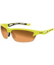 Bolle Болт неоновый желтый модулятор очки янтарные