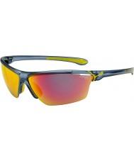 Cebe Cinetik большой матовый прозрачный синий солнцезащитные очки