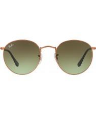 RayBan Rb3447 53 круглые металлические блестящие средней бронзы 9002a6 очки