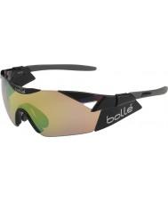 Bolle 6-е чувство сек блестящий черный модулятор коричневый изумрудные очки