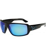 Cebe Маори блестящие черные голубые очки