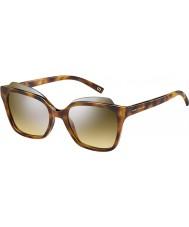Marc Jacobs Дамы 106 MARC-S n36 Havana гг серебряный зеркало солнцезащитные очки