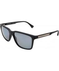 Emporio Armani Ea4047 56 современных черная резина 506381 поляризованных солнцезащитных очков