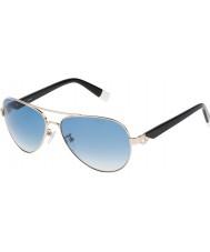 Furla Дамы нефрита su4339s-300 блеск розового золота зеркальные серебряные очки