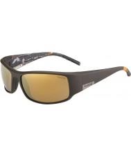 Bolle Король матовое коричневое море поляризованный внутренние золотые солнечные очки