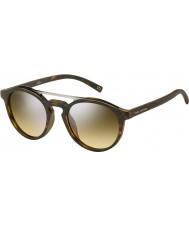 Marc Jacobs Марк 107-s n9p гг матовая Havana серебряное зеркало солнцезащитные очки