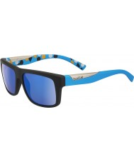 Bolle Клинт матовый черный синий поляризованные GB-10 солнцезащитных очков