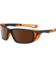 Cebe Proguide матовый черный оранжевый коричневый 2000 флэш-зеркало солнцезащитные очки
